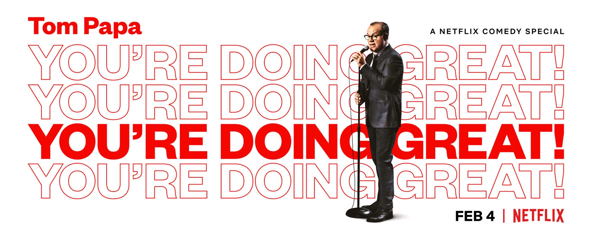 You're Doing Great comedy special by Tom Papa on Netflix